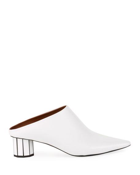 Proenza Schouler Resin-Heel Leather Mules