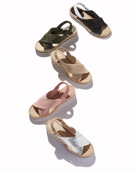 Marc Fisher LTD Pella Suede Espadrille Sandals