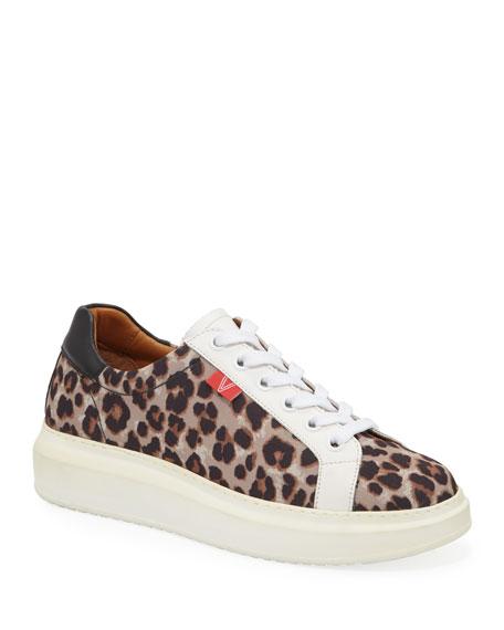 Veronica Beard Daelyn Leopard-Print Platform Sneakers