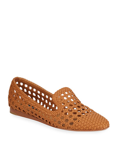 Griffin Woven Loafer Flats