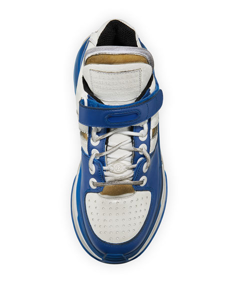 Maison Margiela Deconstruct Leather Trainer Sneakers