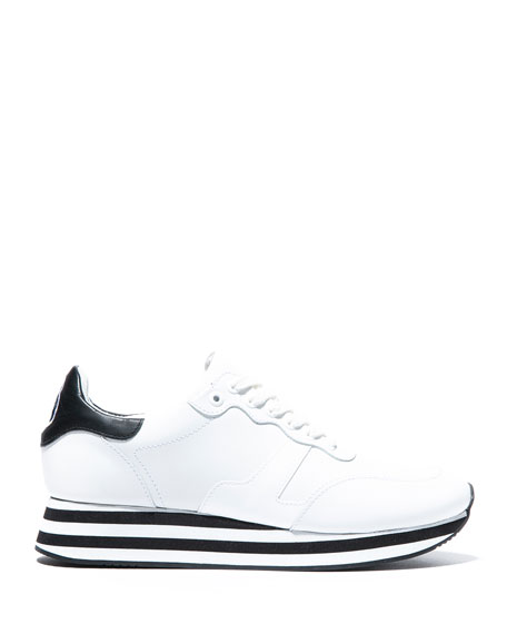 Alice + Olivia Magman Leather Sneakers