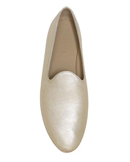Vince Malia-2 Metallic Leather Flat Espadrille Sneakers