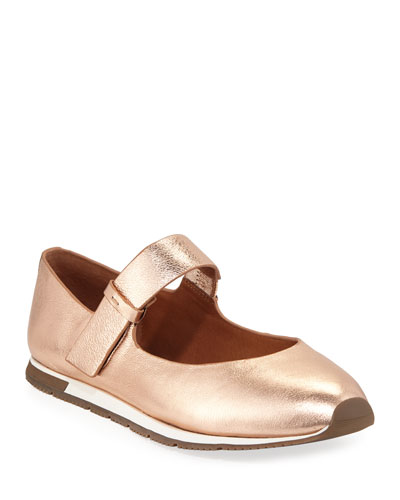 Luca Metallic Leather Mary Jane Sneakers
