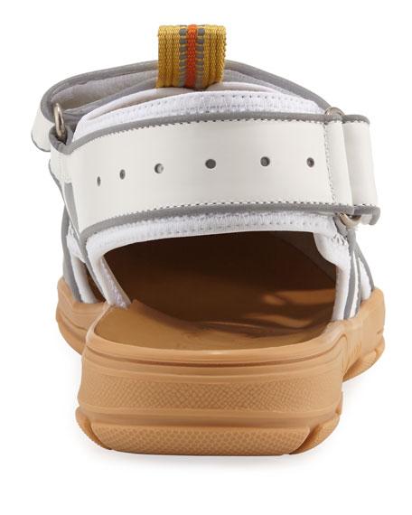 Gucci Sandals 98D10 Calfskin Scotchlite Beige White