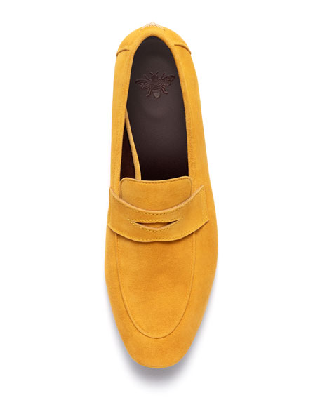 Bougeotte Van Gogh Suede Penny Loafers