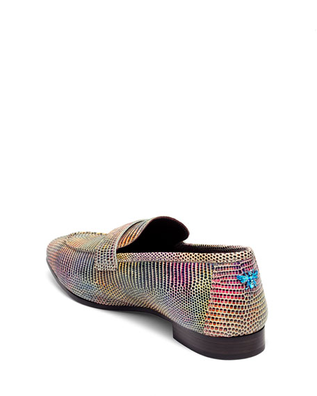 Bougeotte Multicolor Exotic Penny Loafers