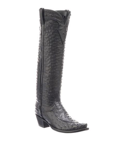 Lucchese Mattea Ostrich Knee Boots