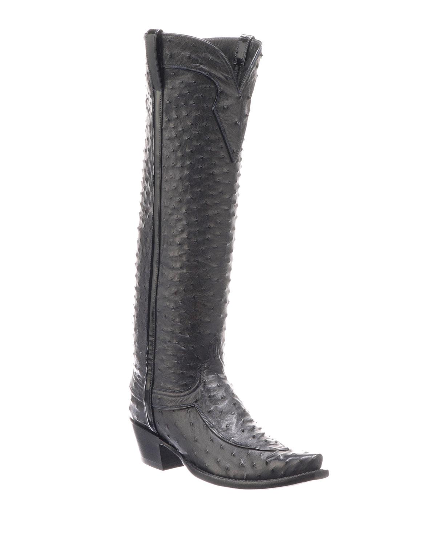 9a4f52897aa Lucchese Mattea Ostrich Knee Boots | Neiman Marcus