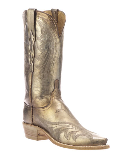 Lucchese Lily Metallic Western Boots