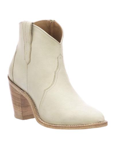 Gigi Western Leather Booties