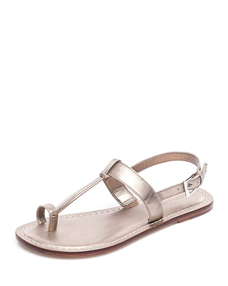 Image 1 of 3: Maverick Toe-Strap Flat Sandals