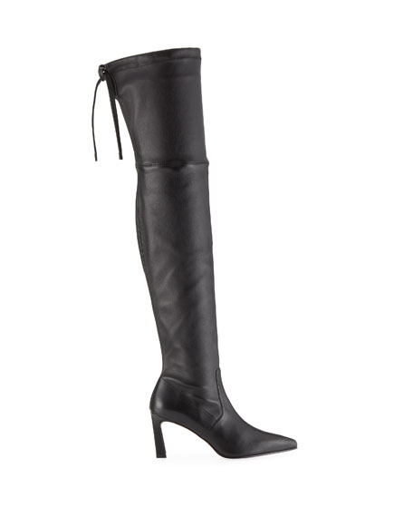 Stuart Weitzman Natalia 75mm Leather Over-The-Knee Boots