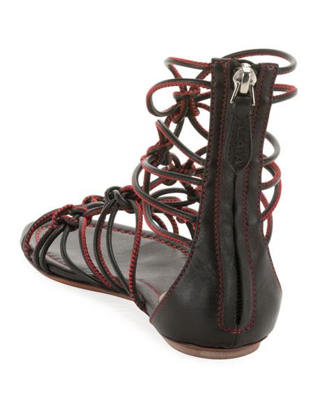 ALAIA Elegant Cord Flat Sandals