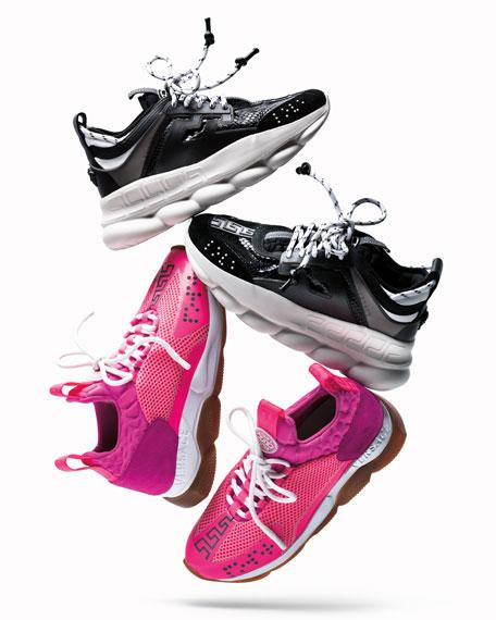 Versace Chain Reaction Platform Sneakers