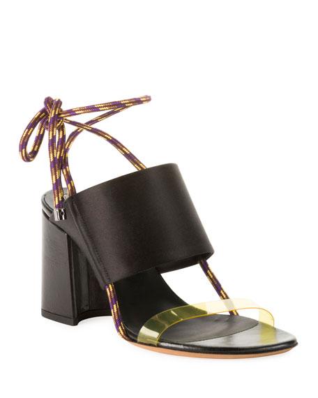 Dries Van Noten Calf Leather Ankle-Tie Sandals