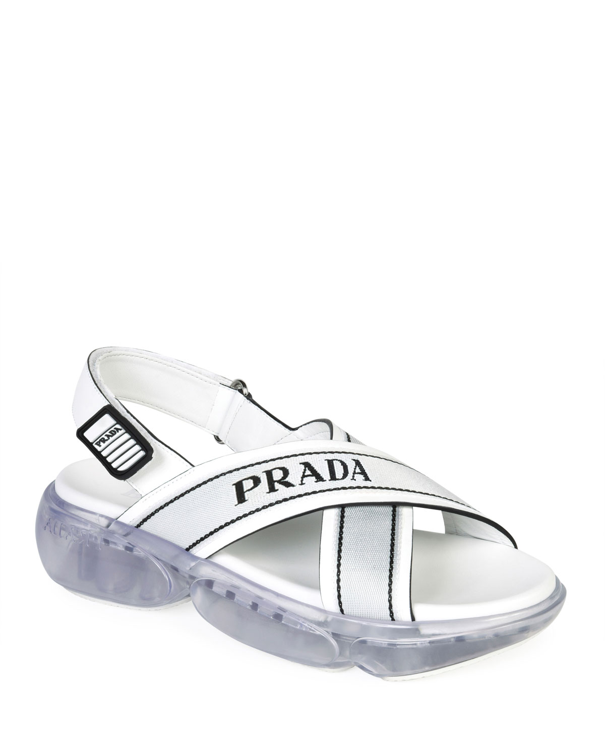 Logo Sport Chunky Sandals by Prada