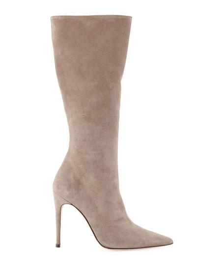 Alexandre Birman Porto Suede Stiletto Knee Boots