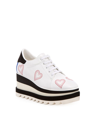 Sneakelyse Heart Lace-Up Sneakers
