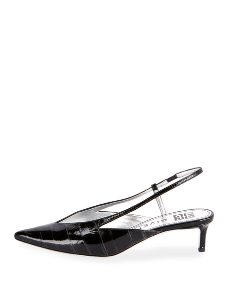 Image 2 of 3: Show 3V Eel Slingback Pumps
