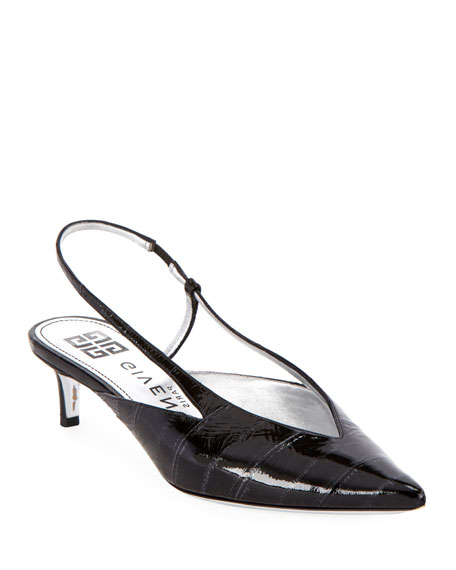 Image 1 of 3: Show 3V Eel Slingback Pumps