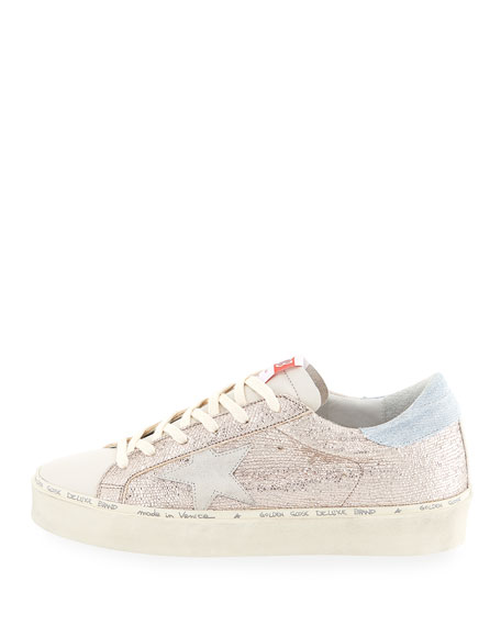 Golden Goose Hi Star Metallic Leather Sneakers