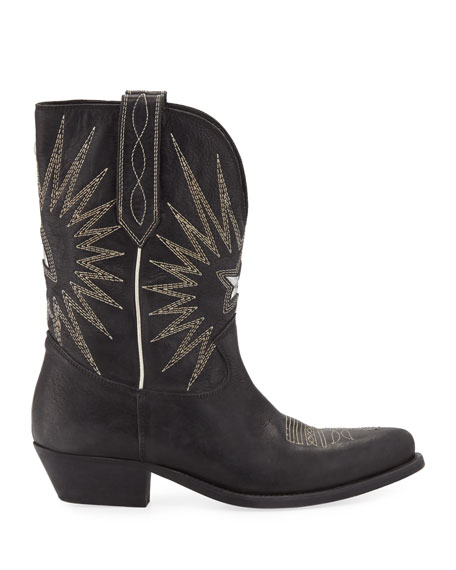 Image 2 of 3: Golden Goose Wish Star Leather Western Boots