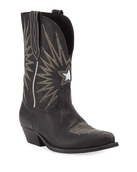 Image 1 of 3: Golden Goose Wish Star Leather Western Boots