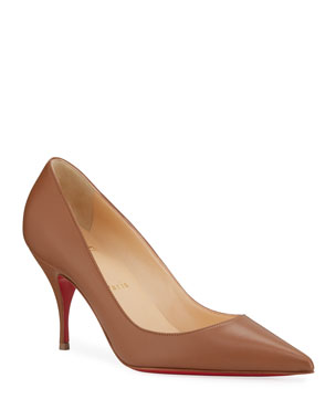 56136a8eff Christian Louboutin Clare 80 Leather Red Sole Pumps