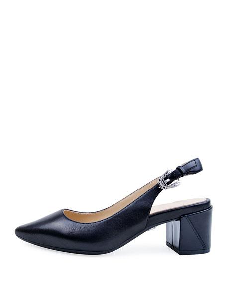 Bettye Muller Concept Flynn Leather Slingback Pumps, Black