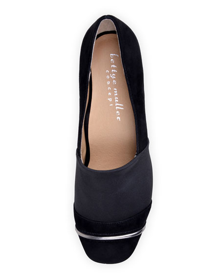 Bettye Muller Concept Gobi Stretch-Suede Loafers