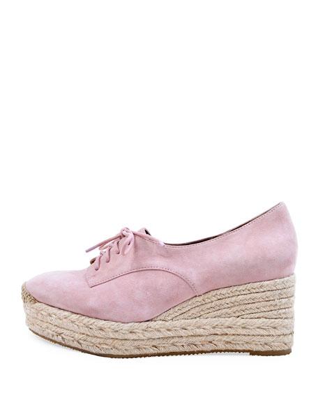 Bettye Muller Concept Regine Suede Lace-Up Espadrilles, Pink