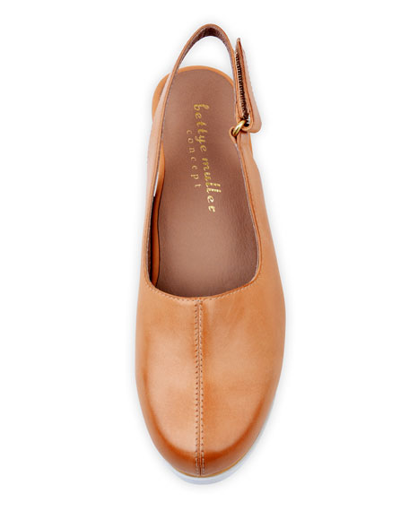 Bettye Muller Concept Taye Leather Slingback Clogs