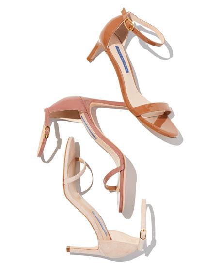 Stuart Weitzman Nudist 80 Ankle-Strap Sandals