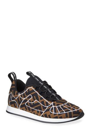 Fendi Freedom FF Stretch Sneakers