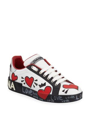 5140a5c9f5ffa Dolce   Gabbana Portofino Graffiti Sneakers