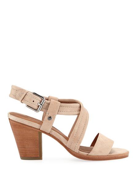 Frye Dani Grained Leather Sandals