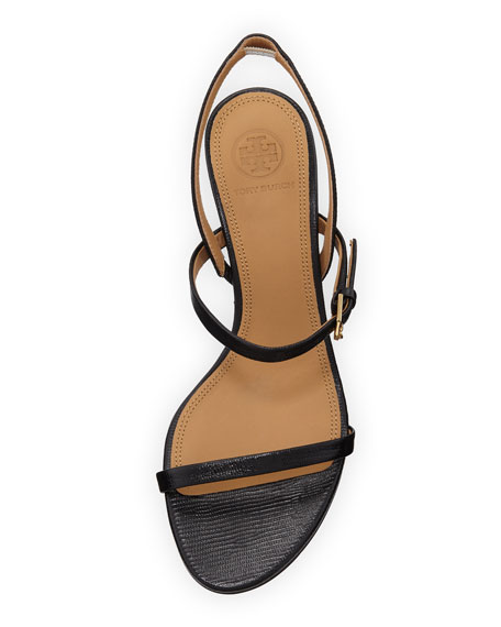 Tory Burch Penelope Embossed Leather Slingback Sandals