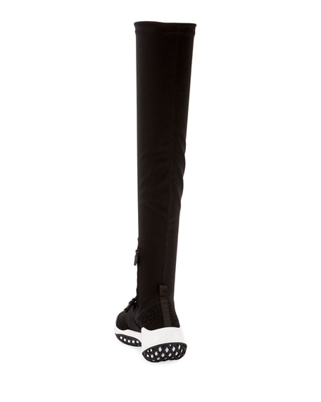 Roger Vivier Viv Run Over-the-Knee Sock Sneakers