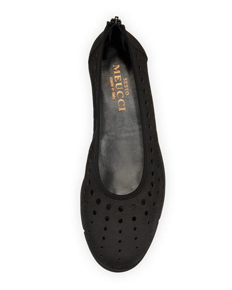 Sesto Meucci Dova Perforated Slip-On Flat, Black