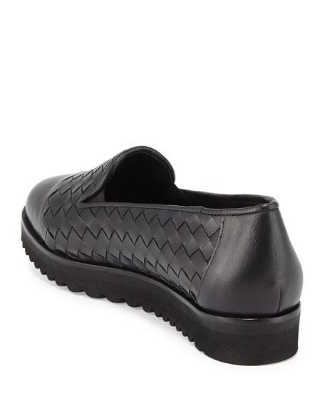 Sesto Meucci Naia Woven Leather Loafer, Black
