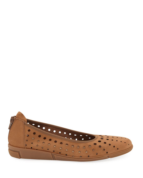 Sesto Meucci Dova Perforated Leather Comfort Ballet Flats