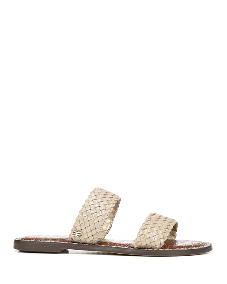 Sam Edelman Gala Woven Leather Slide Sandals