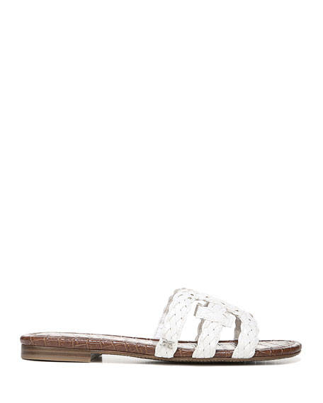 Sam Edelman Beckie Braided Leather Cutout Slide Sandals