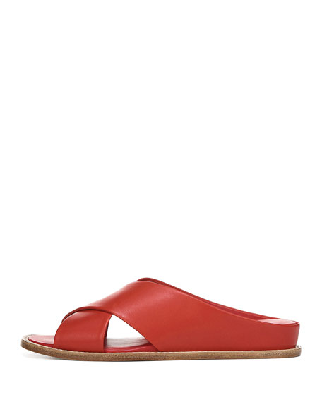 Vince Fairley Leather Slide Sandals