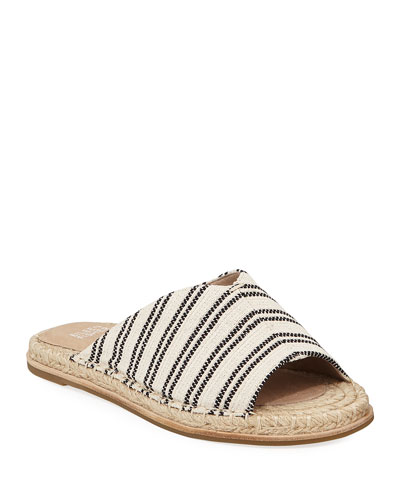 Milly Striped Canvas Espadrille Sandals