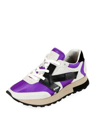 HG Runner Low-Top Suede Sneakers  Purple