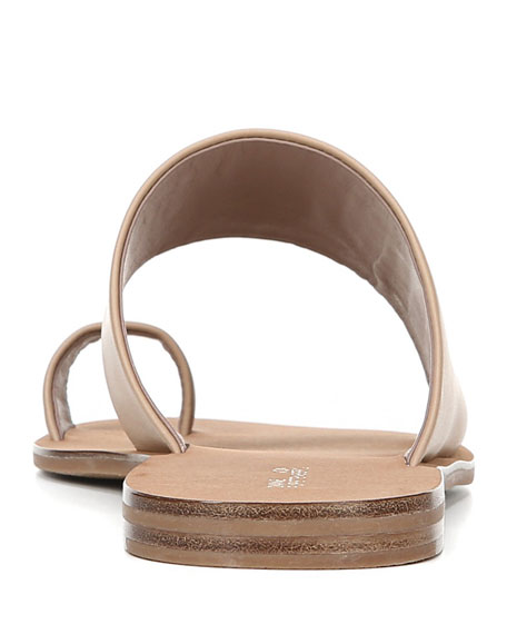 Diane von Furstenberg Brittany Flat Leather Slide Sandals