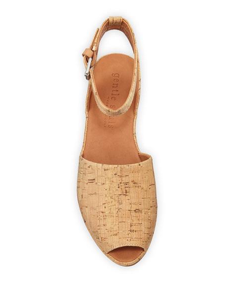 Gentle Souls Lily Cork Wedge Sandals
