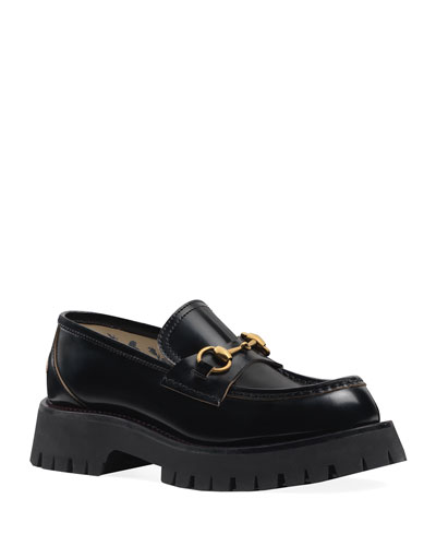 Django Leather Lug-Sole Loafers